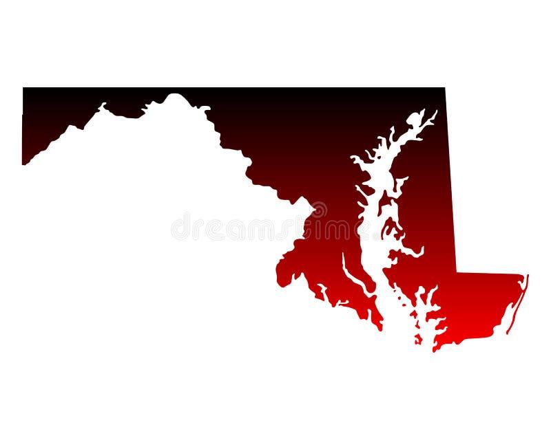 Mapa de Maryland ilustração royalty free