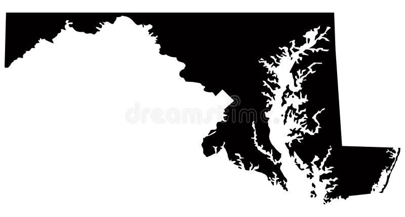 Mapa de Maryland, EUA, país, silhueta ilustração do vetor