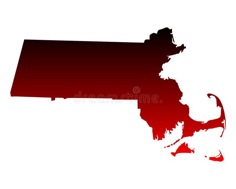 Mapa de Massachusetts ilustração royalty free