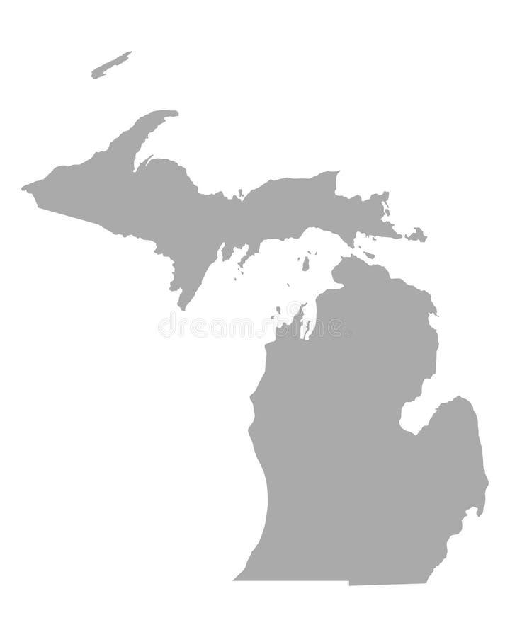 Mapa de michigan ilustração stock