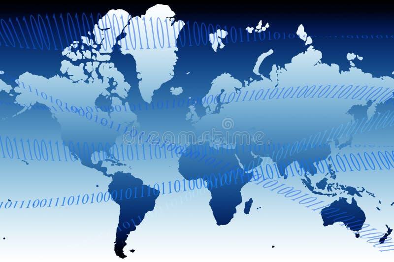 Mapa de mundo 01 ilustração do vetor