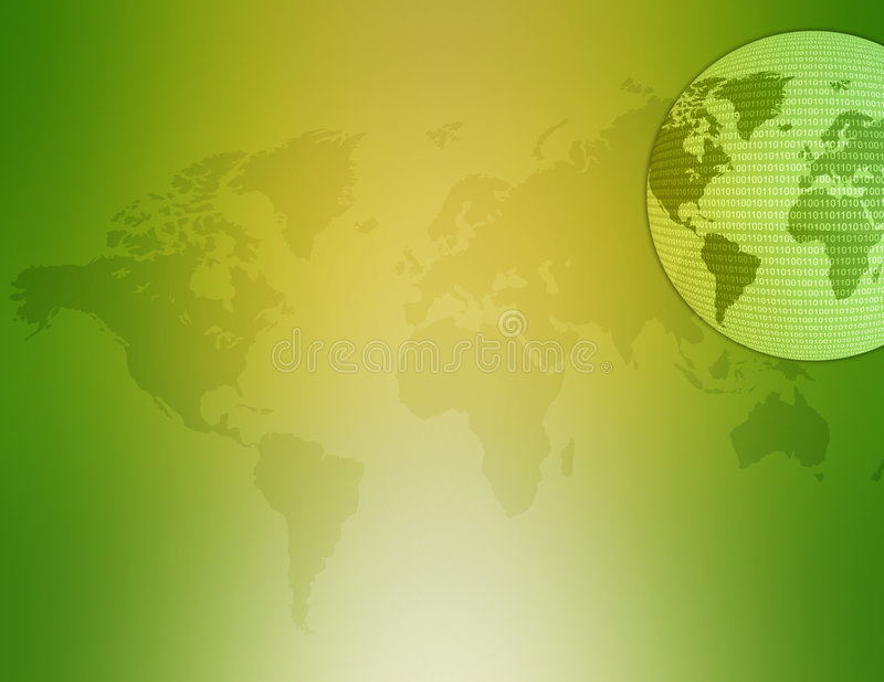 Mapa De Mundo 02 Foto de Stock Royalty Free