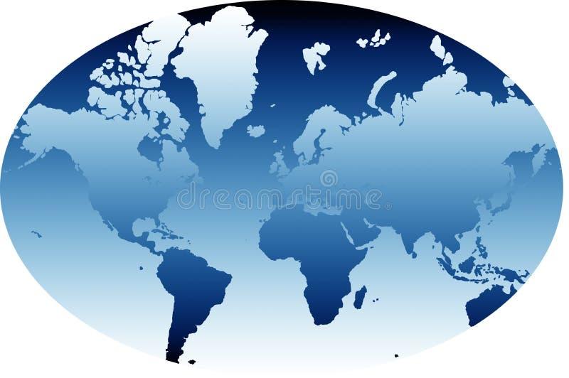 Mapa de mundo 03 ilustração stock