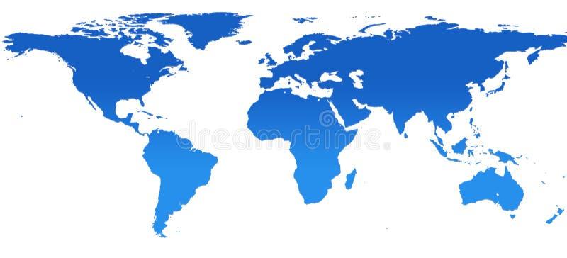 Mapa de mundo (13,7MP) ilustração royalty free