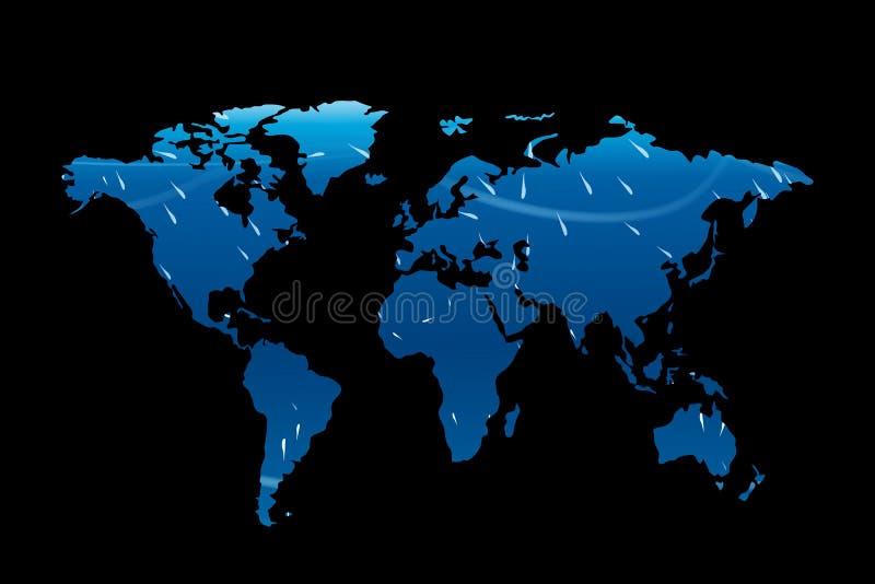 Mapa de mundo 01 ilustração stock