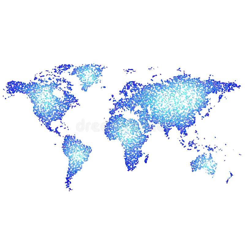 Mapa de mundo abstrato ilustração do vetor