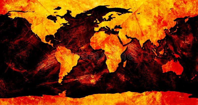 Mapa de mundo colorido ilustração do vetor