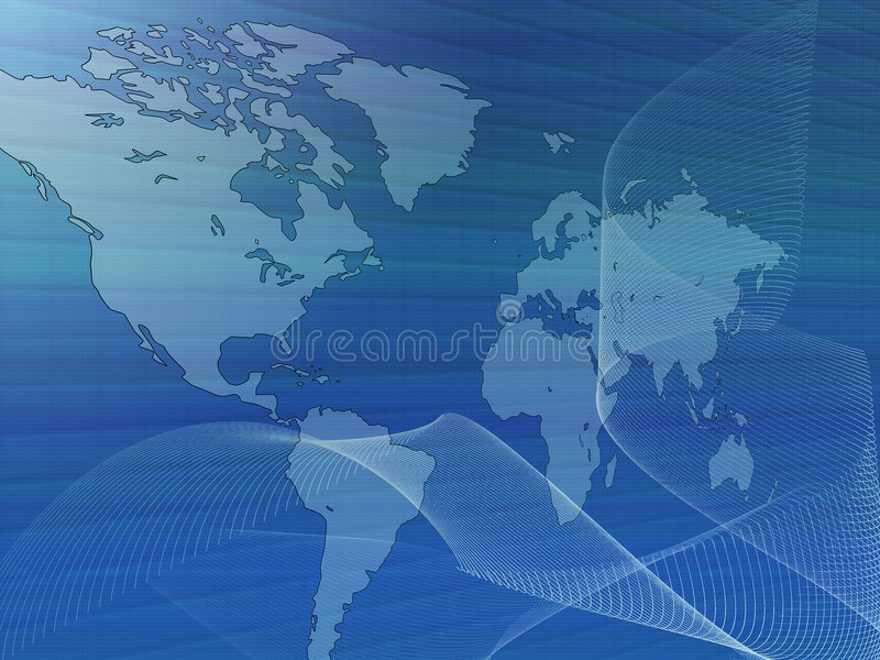 Mapa de mundo com rede ilustração do vetor