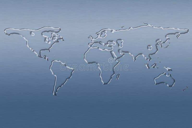 Mapa de mundo da água ilustração stock