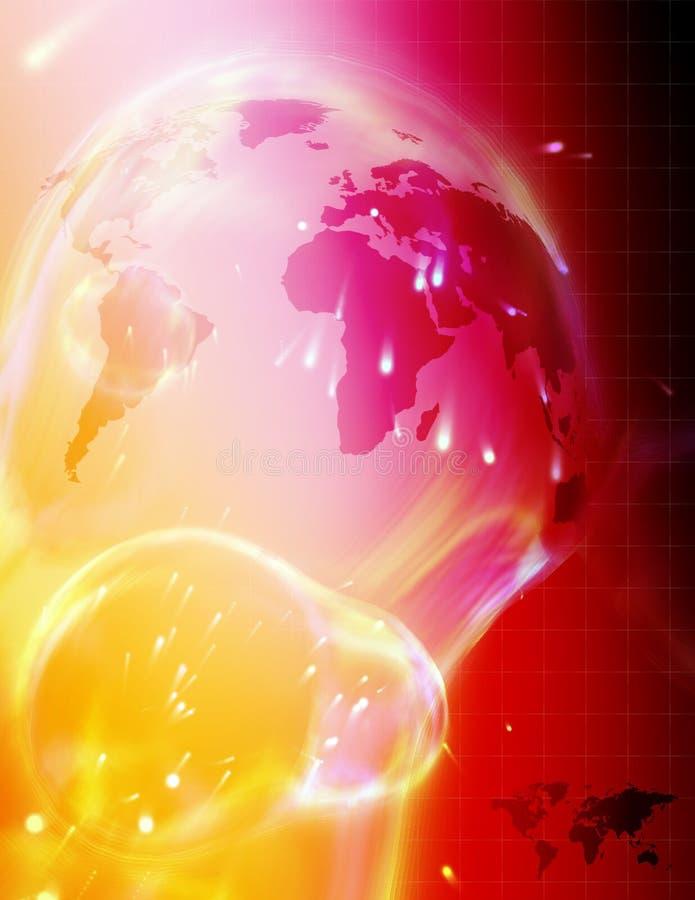 Mapa de mundo da alta tecnologia ilustração royalty free