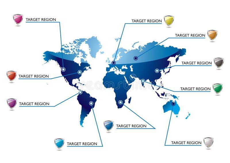 Mapa de mundo da informação ilustração royalty free