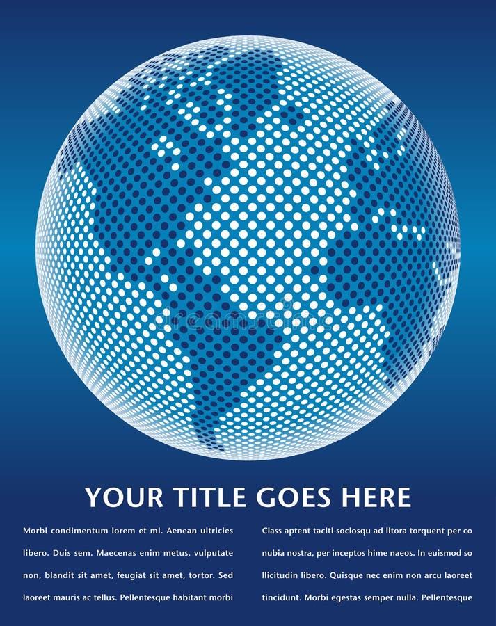 Mapa de mundo de Digitas. ilustração royalty free
