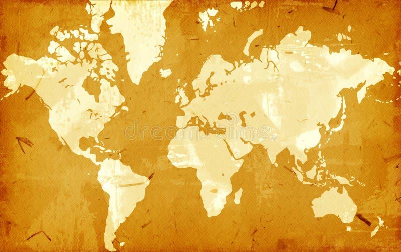 Mapa de mundo de Grunge