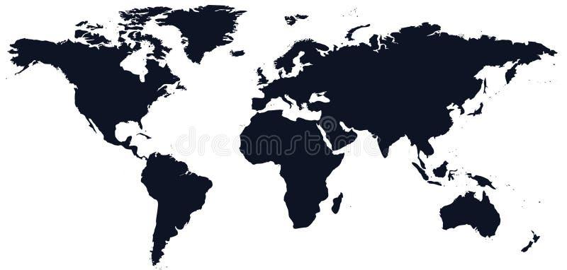 Mapa de mundo do isolado ilustração do vetor