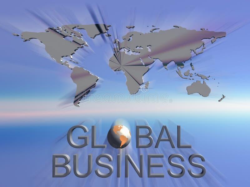 Mapa de mundo do negócio global ilustração stock