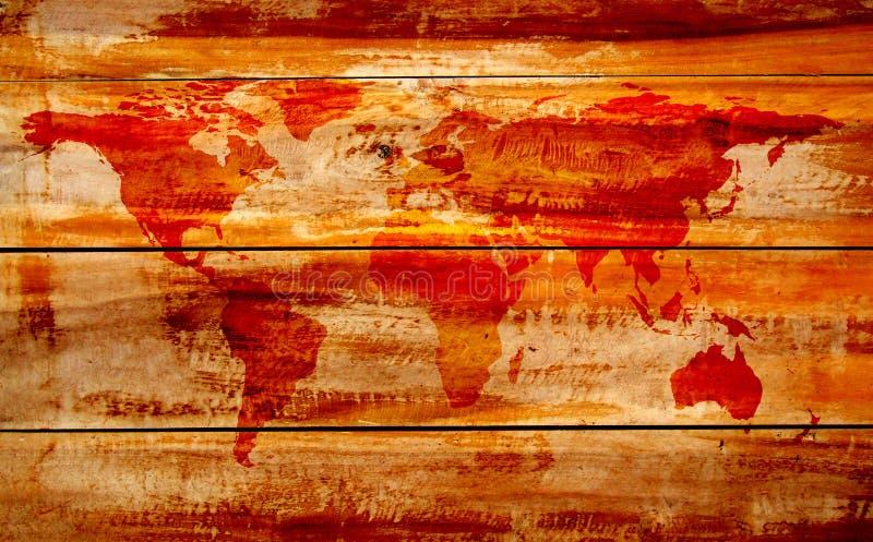 Mapa de mundo do vintage ilustração stock