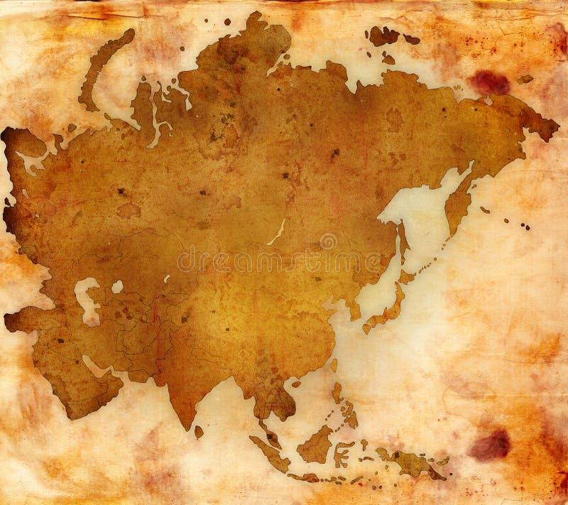 Mapa de mundo - mapa de Ásia ilustração do vetor