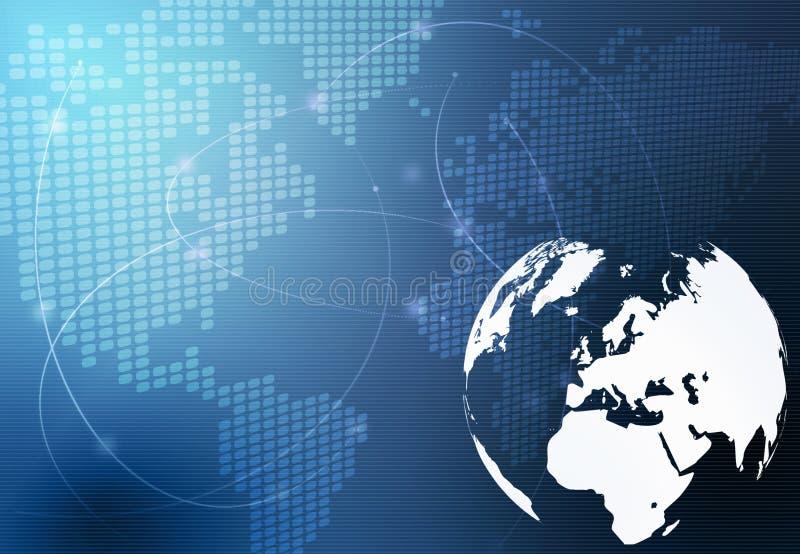 Mapa de mundo - mapa de Europa ilustração stock