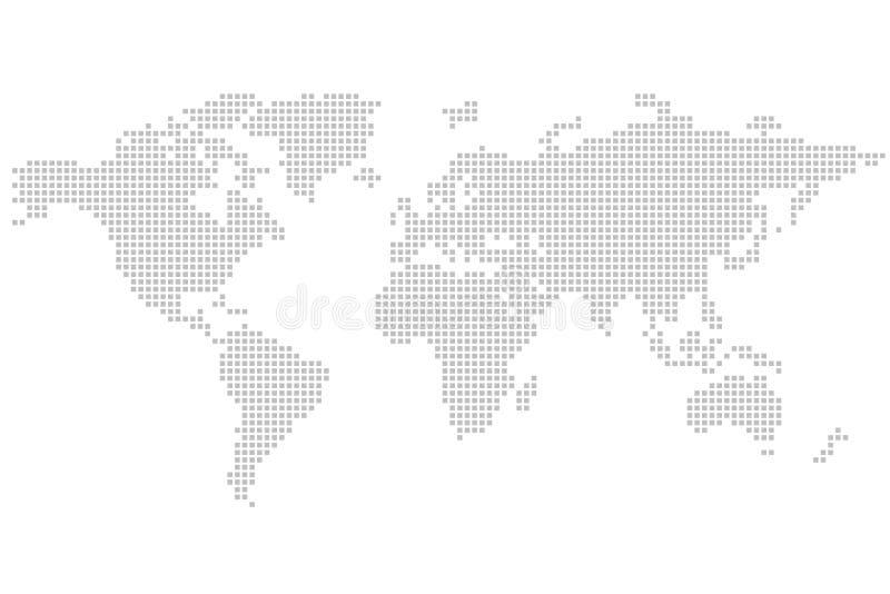 Mapa de mundo: quadrado - enigma ilustração stock