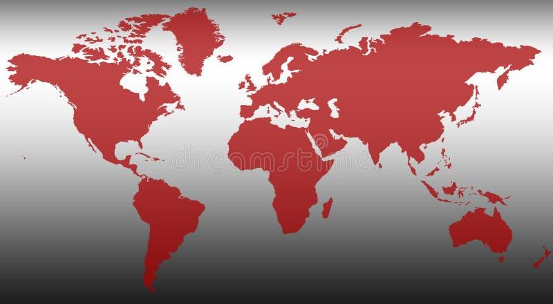 Mapa de mundo XVI ilustração stock