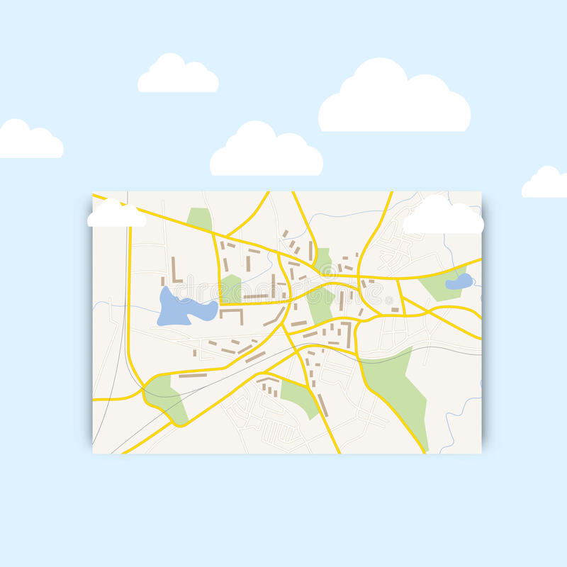 Mapa de Navigration ilustração do vetor