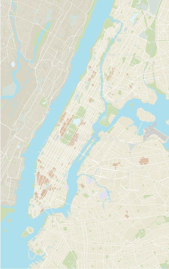 Mapa de New York ilustração stock