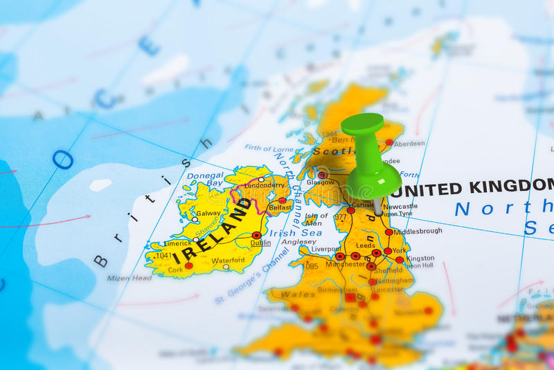 Mapa de Newcastle Escócia imagens de stock royalty free