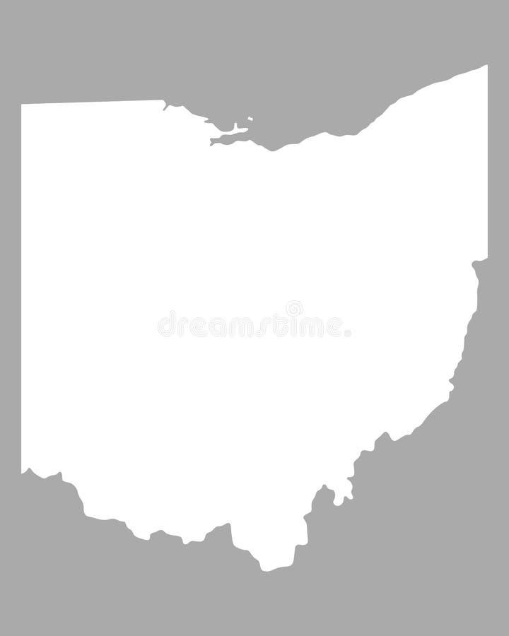 Mapa de ohio ilustração stock