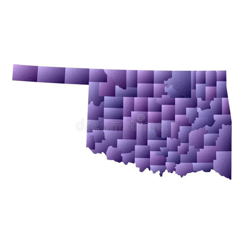 Mapa de Oklahoma ilustração royalty free