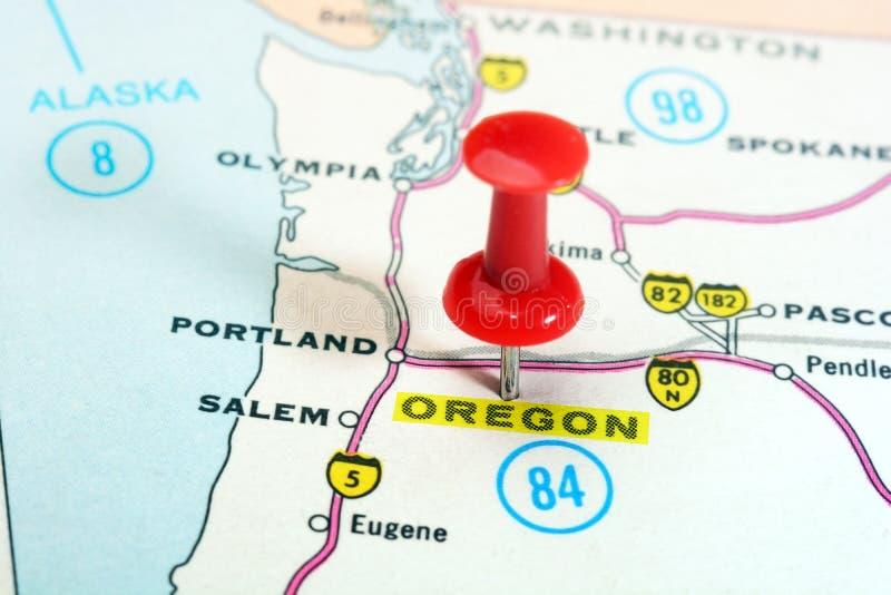 Mapa de Oregon EUA imagens de stock royalty free