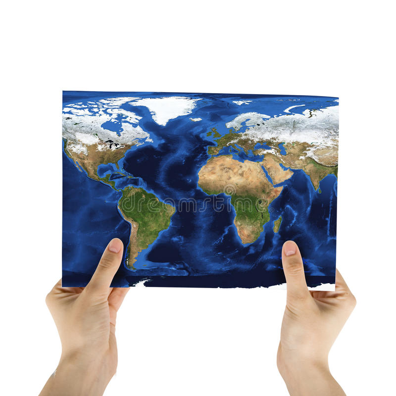 Mapa de papel foto de stock royalty free