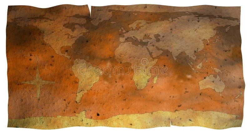 Mapa de papel velho do globo imagens de stock royalty free