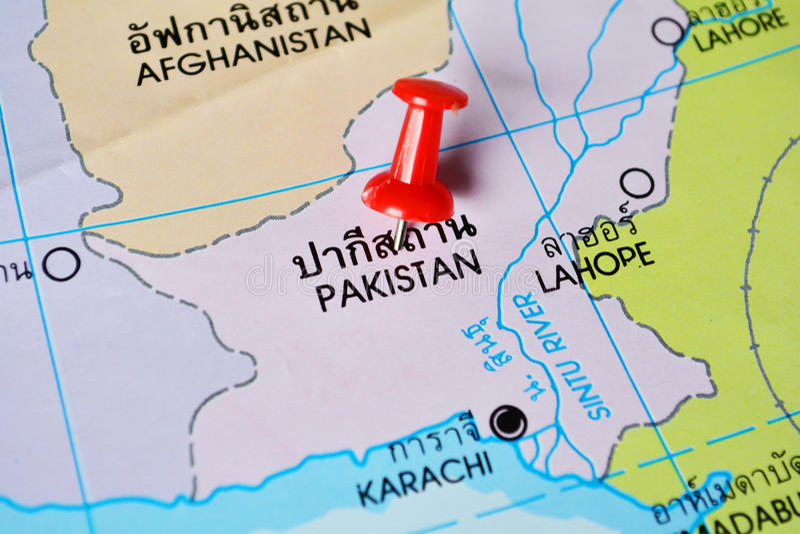 Mapa de Paquistán imágenes de archivo libres de regalías