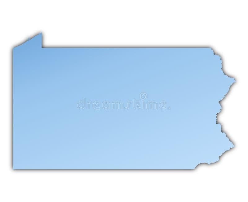 Mapa de Pensilvânia (EUA) ilustração royalty free