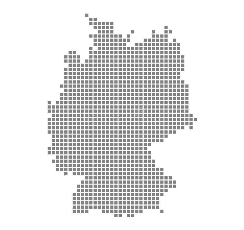 Mapa de pixel de Alemanha Vector o mapa pontilhado de Alemanha isolou-se no fundo branco Gráfico de computador abstrato do mapa d ilustração stock