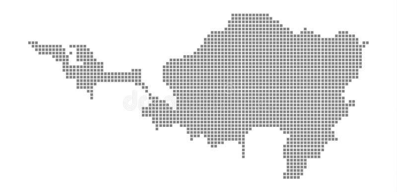 Mapa de pixel de Sint Maarten El vector punteó el mapa de Sint Maarten aislado en el fondo blanco Gráfico de ordenador abstracto  libre illustration