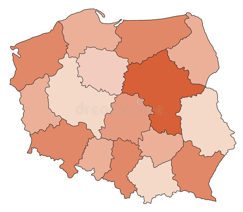 Mapa de Poland