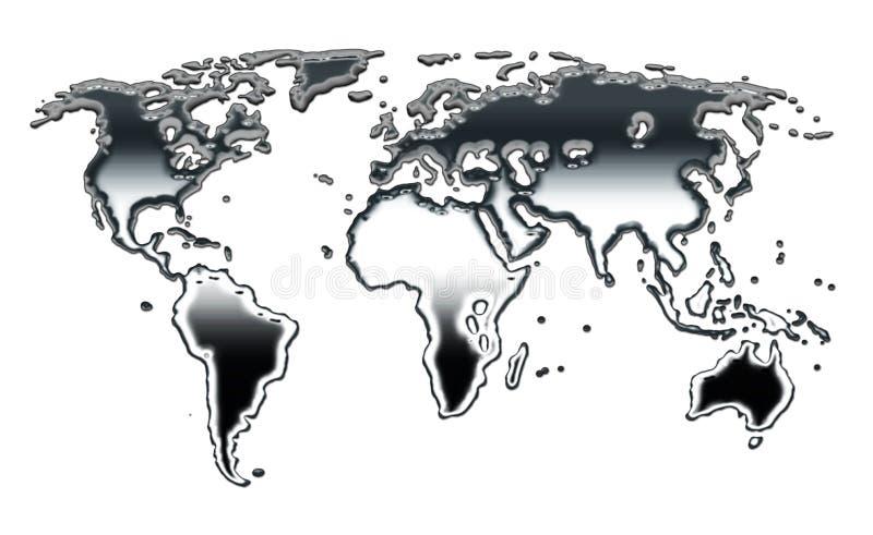 Mapa de prata ilustração stock