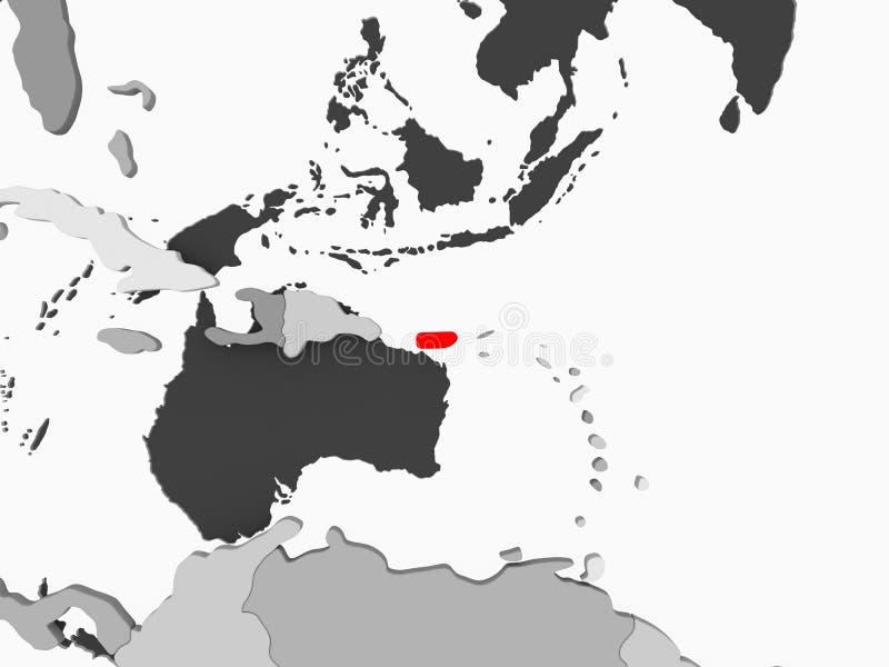 Mapa de Puerto Rico ilustração stock