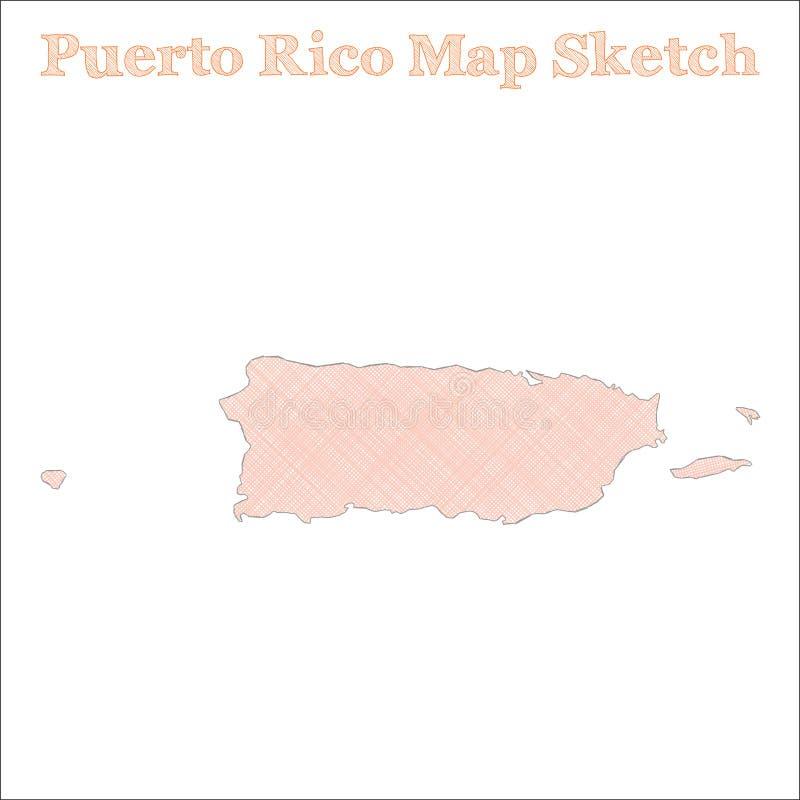 Mapa de Puerto Rico ilustração royalty free