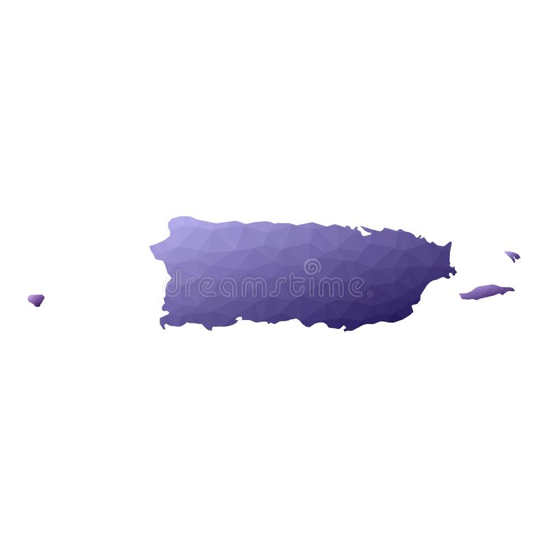 Mapa de Puerto Rico ilustração do vetor