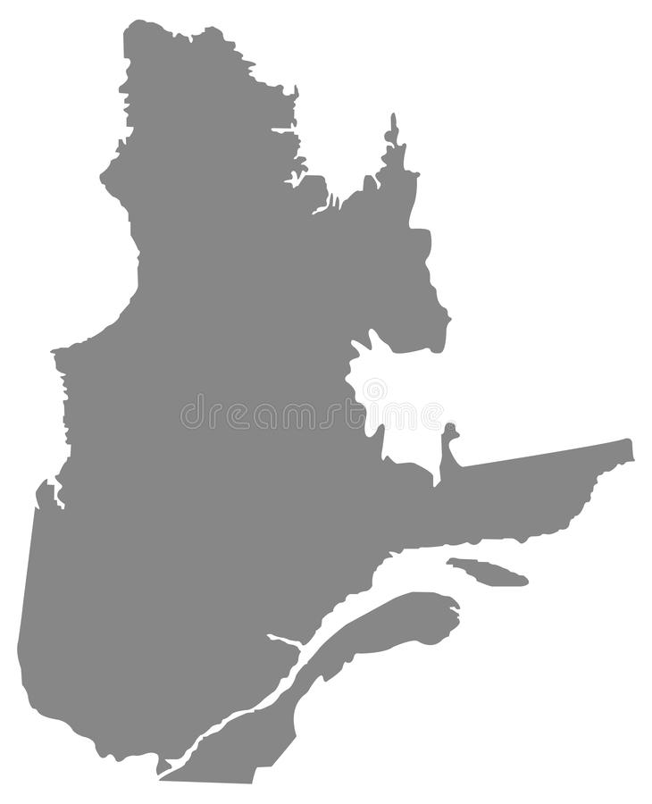 Mapa de Quebec - la provincia y el territorio más grandes de Canadá libre illustration