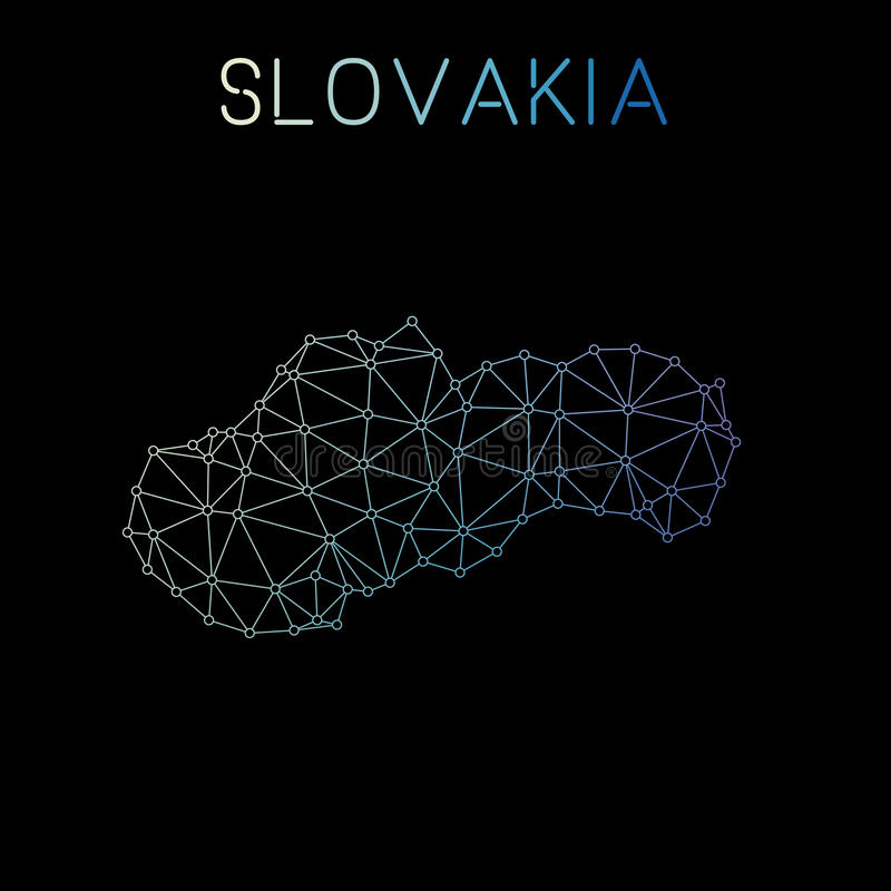 Mapa de red de Eslovaquia stock de ilustración