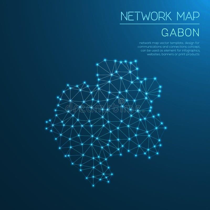 Mapa de red de Gabón libre illustration