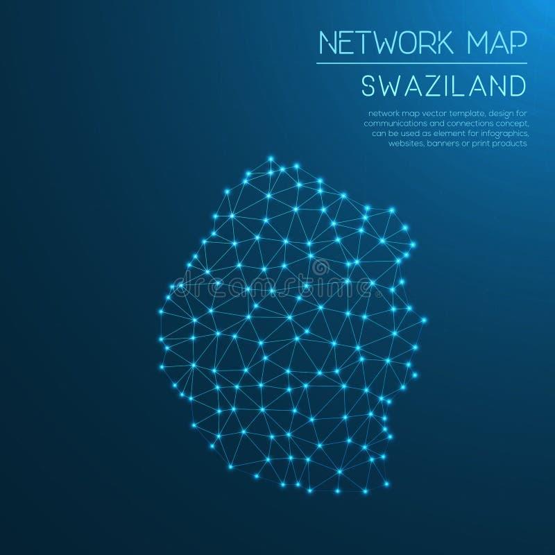 Mapa de red de Swazilandia libre illustration