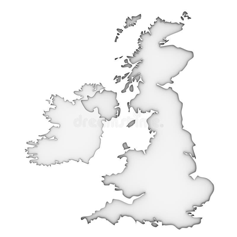 Mapa de Reino Unido ilustración del vector