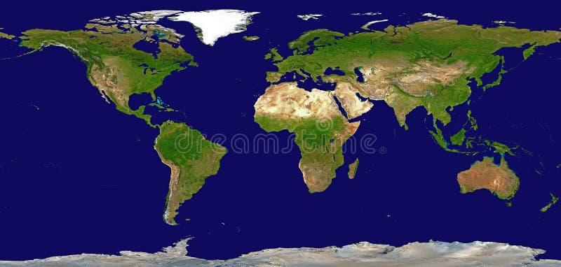 Mapa de relevo protegido do mundo ilustração royalty free