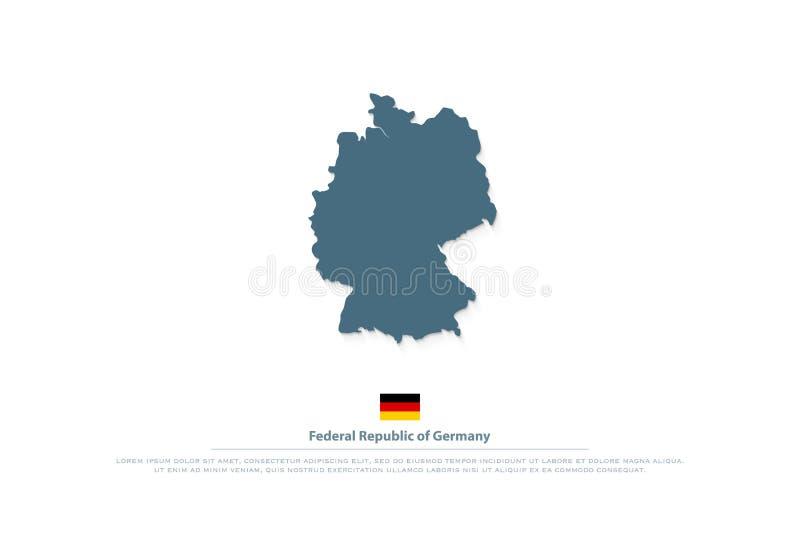 Mapa de República Federal de Alemania e icono de la bandera del funcionario libre illustration