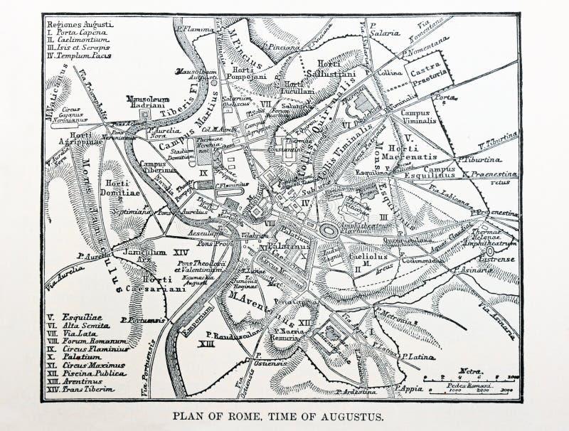 Mapa de Roma antiga foto de stock royalty free