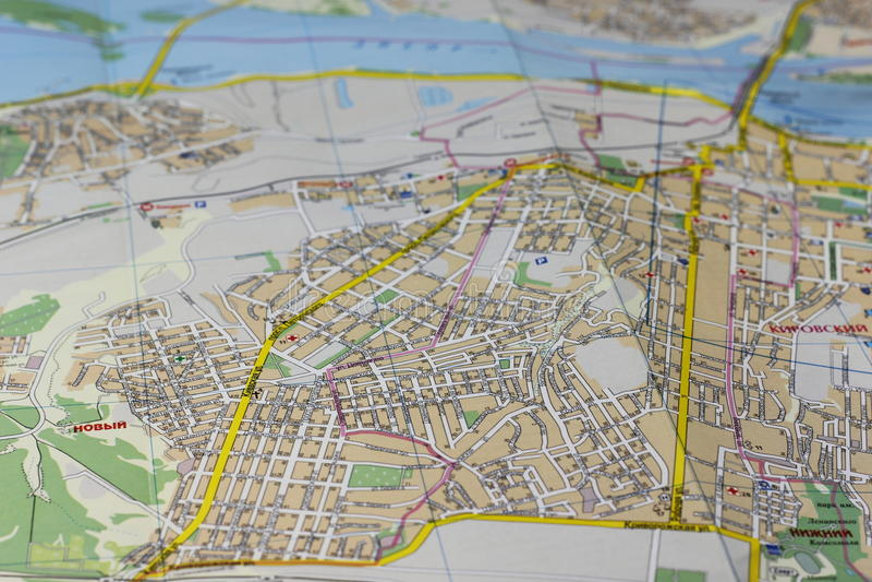 Mapa de ruas imagens de stock
